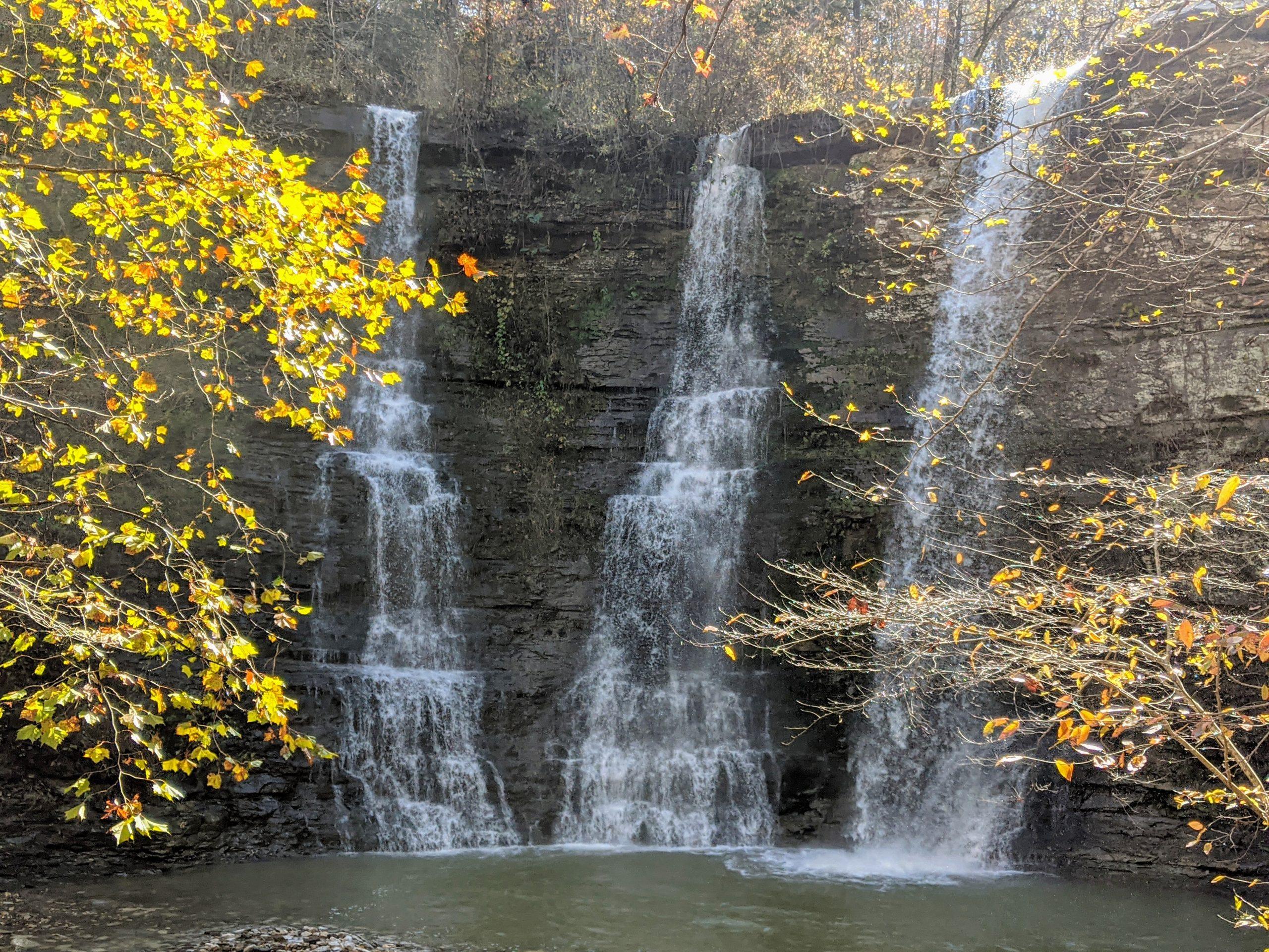 triple falls at camp orr near buffalo national river